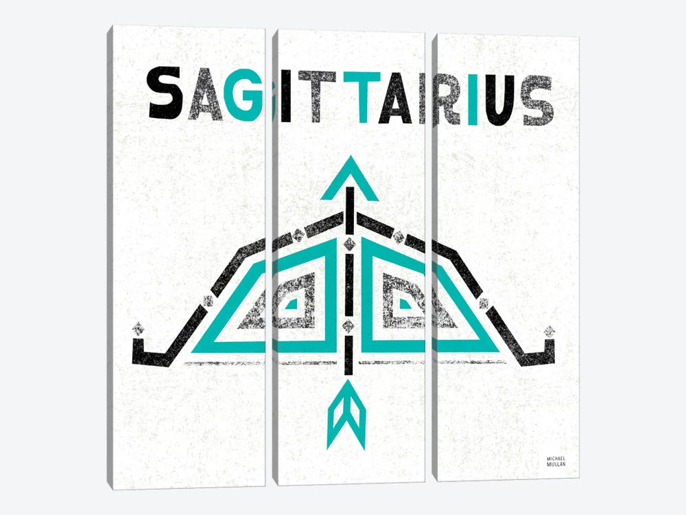 Zodiac Sagittarius by Michael Mullan 3-piece Canvas Art