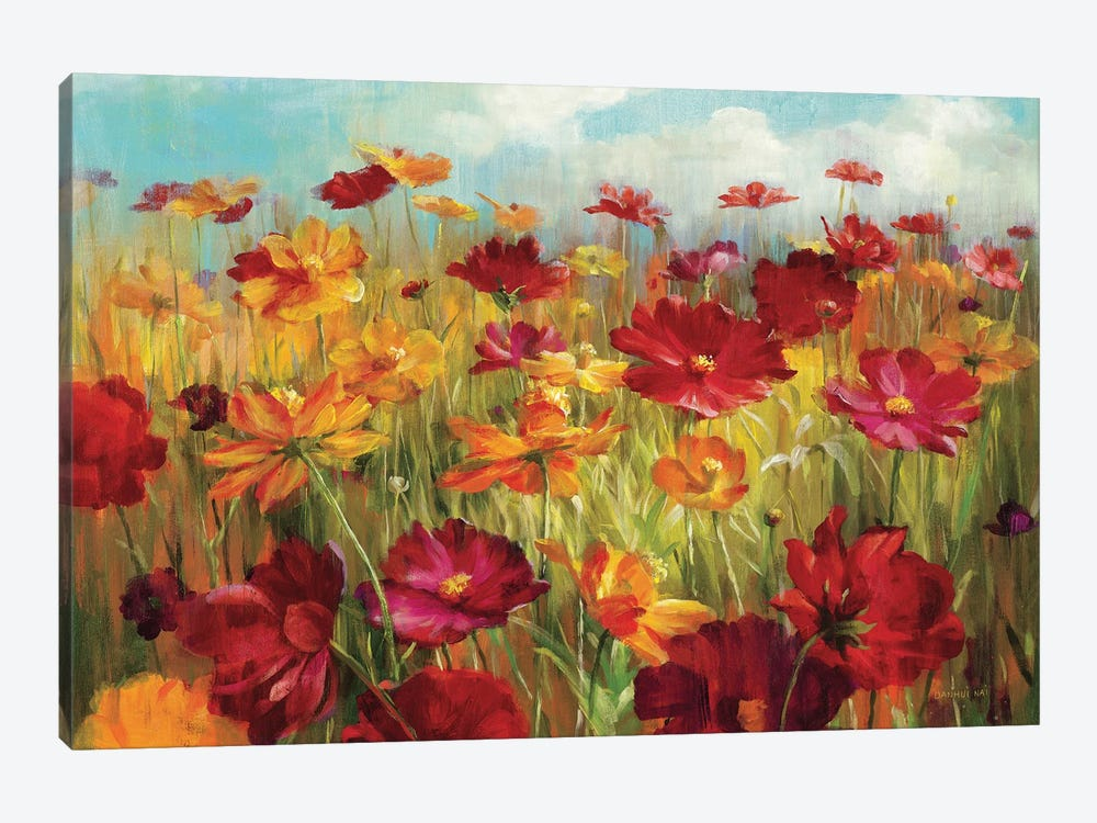 Cosmos in the Field by Danhui Nai 1-piece Canvas Art Print