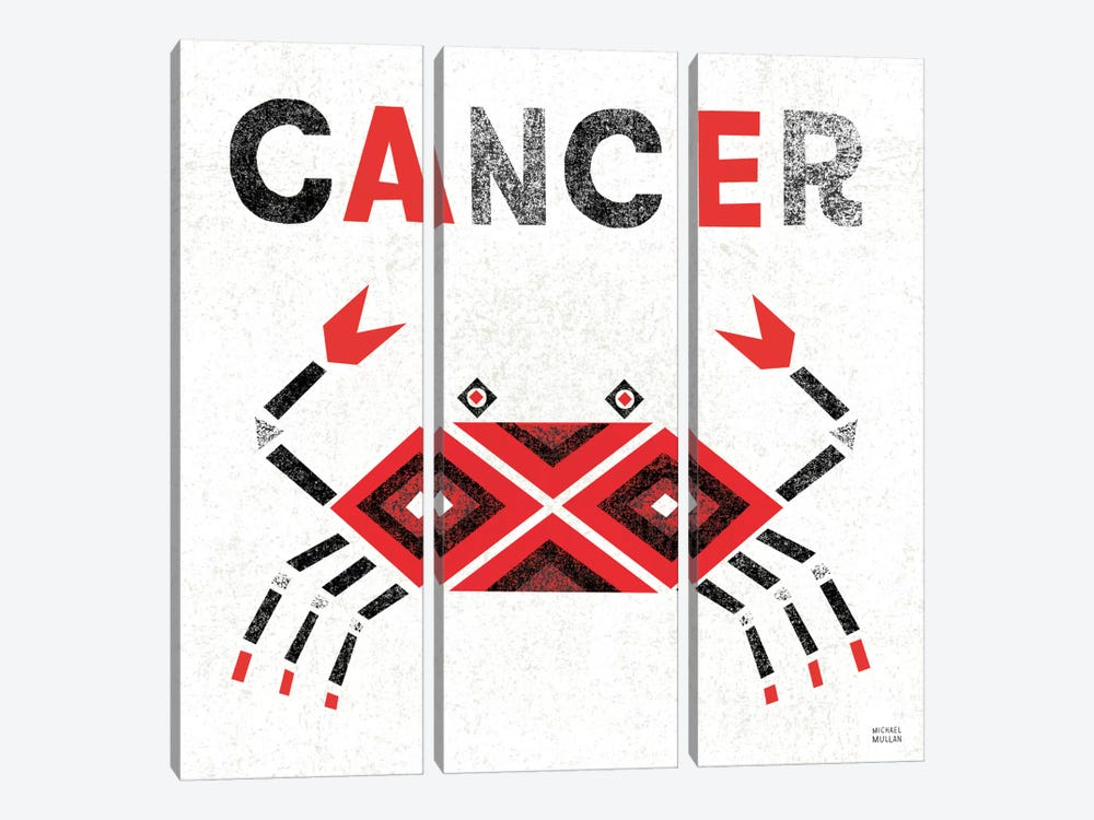 Zodiac Cancer by Michael Mullan 3-piece Canvas Art