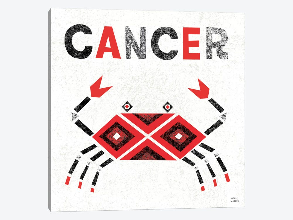Zodiac Cancer by Michael Mullan 1-piece Canvas Artwork