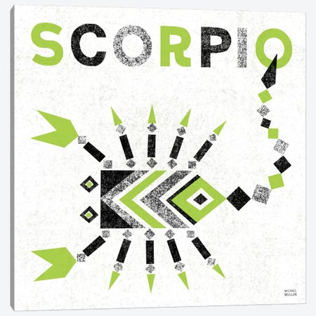 Zodiac Scorpio Canvas Print #WAC2211} by Michael Mullan Canvas Art