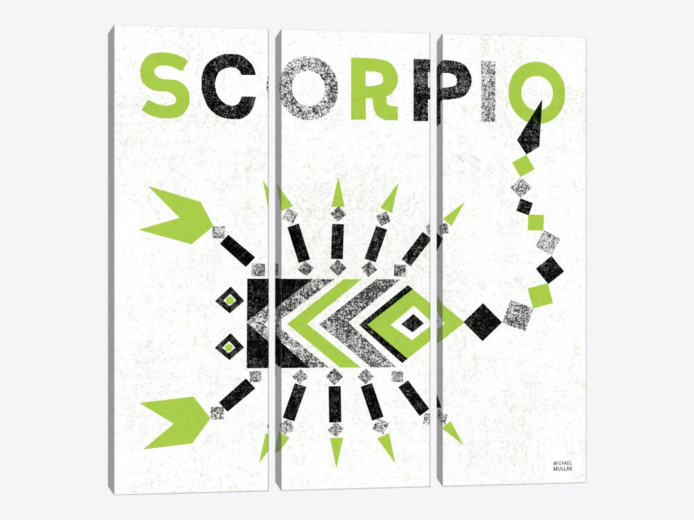 Zodiac Scorpio 3-piece Canvas Art Print
