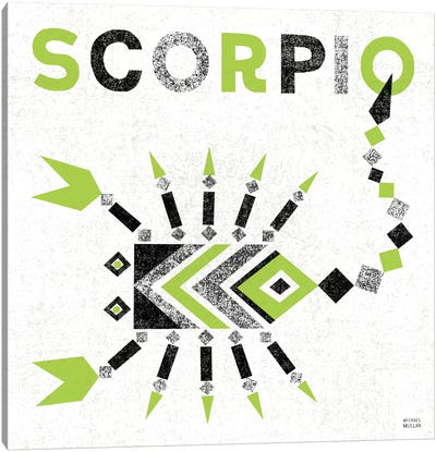 Zodiac Scorpio Canvas Art Print
