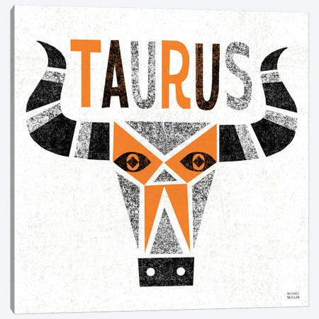Zodiac Taurus Canvas Print #WAC2213} by Michael Mullan Canvas Artwork