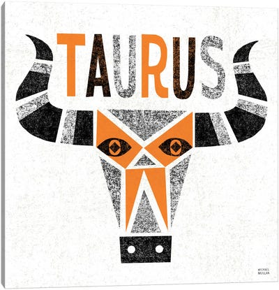 Zodiac Taurus Canvas Art Print