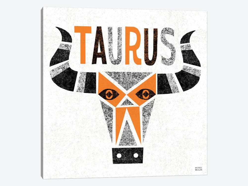 Zodiac Taurus by Michael Mullan 1-piece Canvas Art Print