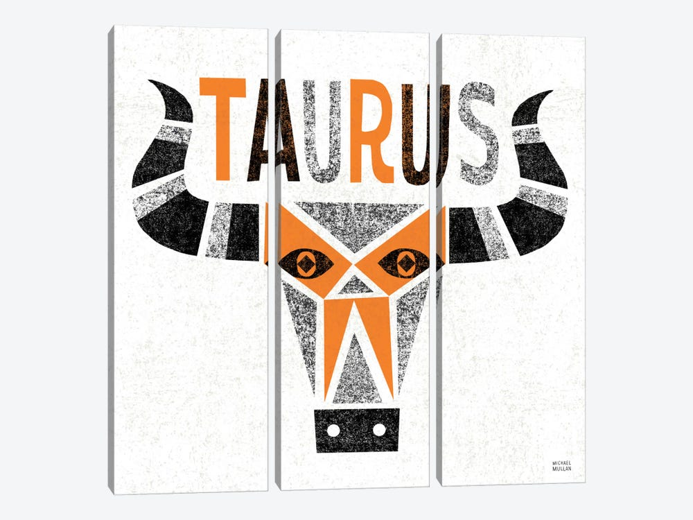 Zodiac Taurus by Michael Mullan 3-piece Art Print