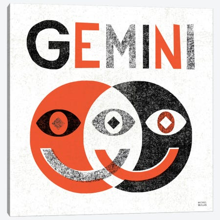Zodiac Gemini Canvas Print #WAC2214} by Michael Mullan Art Print