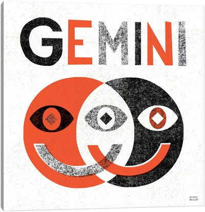 Zodiac Gemini Canvas Art Print