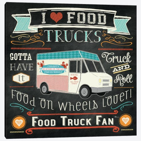 Food Truck I Canvas Print #WAC2217} by Pela Studio Art Print