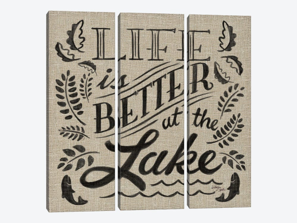 Lake Life I by Wellington Studio 3-piece Canvas Art