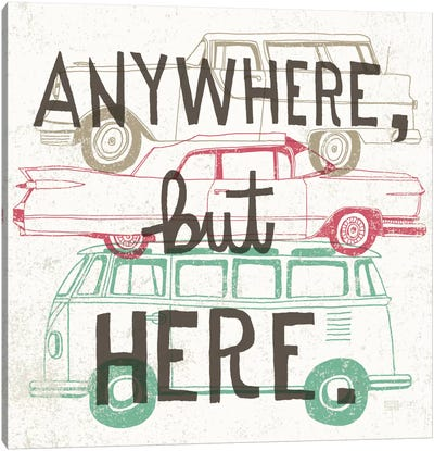Road Trip - Keep on Going Canvas Print #WAC2238