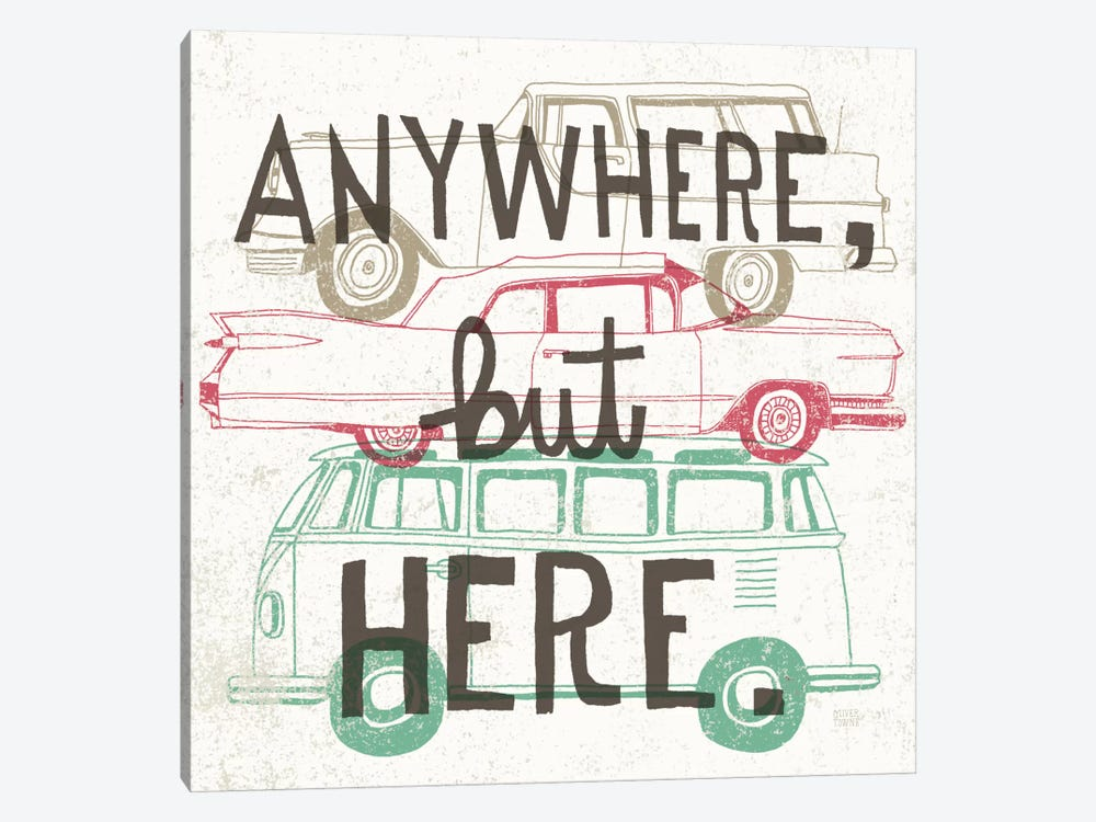 Road Trip - Keep on Going by Oliver Towne 1-piece Canvas Art
