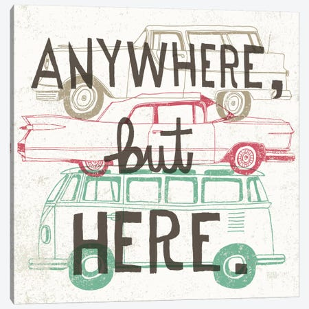 Road Trip - Keep on Going Canvas Print #WAC2238} by Oliver Towne Canvas Artwork