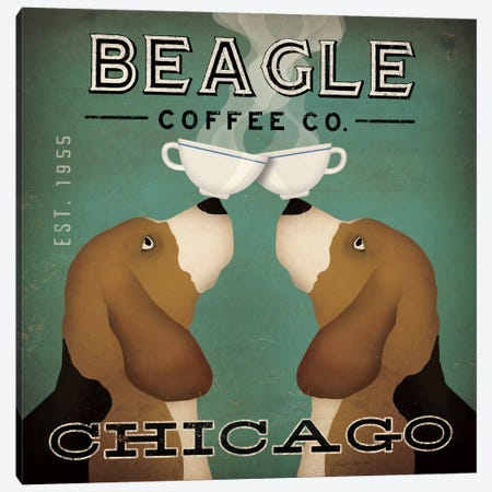 Beagle Coffee Co. Canvas Print #WAC2240} by Ryan Fowler Canvas Print