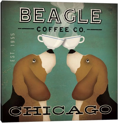 Beagle Coffee Co. Canvas Art Print