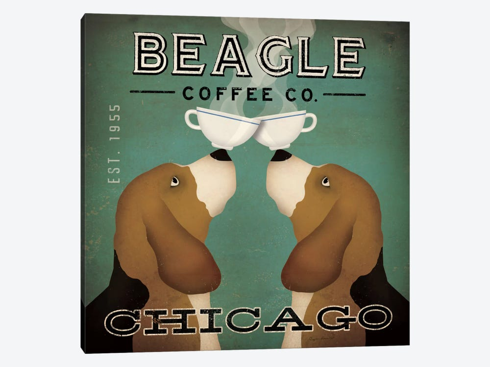 Beagle Coffee Co. by Ryan Fowler 1-piece Art Print
