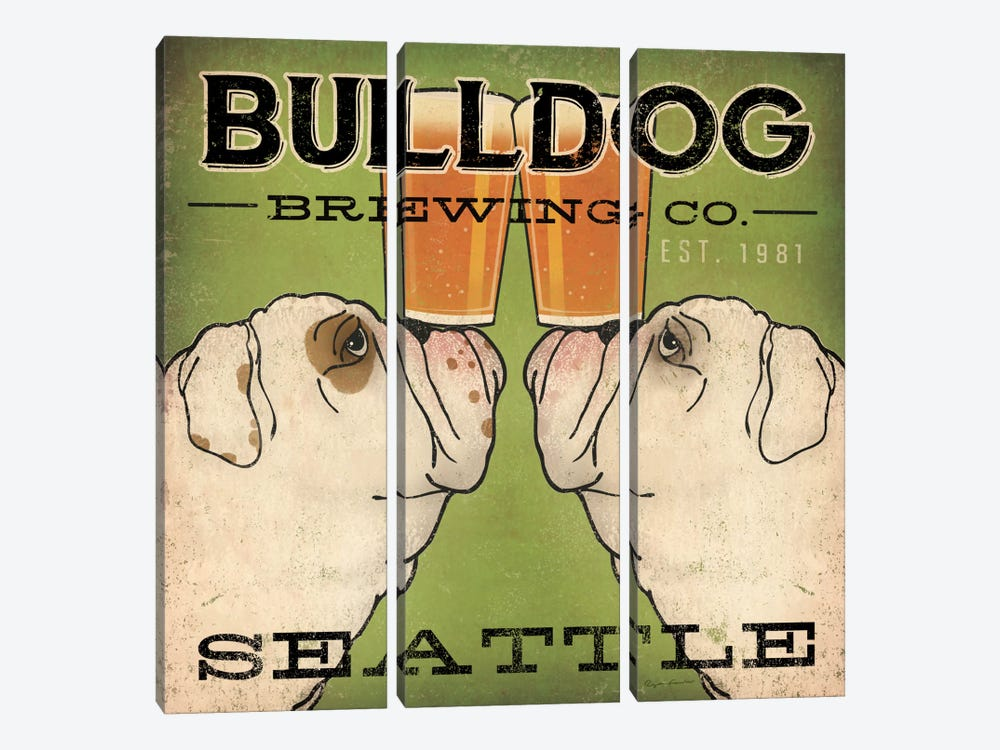 Bulldog Brewing Co. by Ryan Fowler 3-piece Canvas Art
