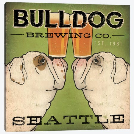 Bulldog Brewing Co. Canvas Print #WAC2241} by Ryan Fowler Canvas Art Print