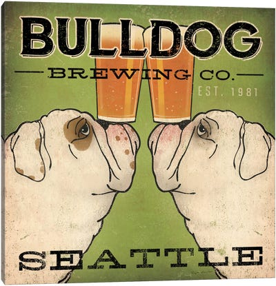 Bulldog Brewing Co. Canvas Print #WAC2241