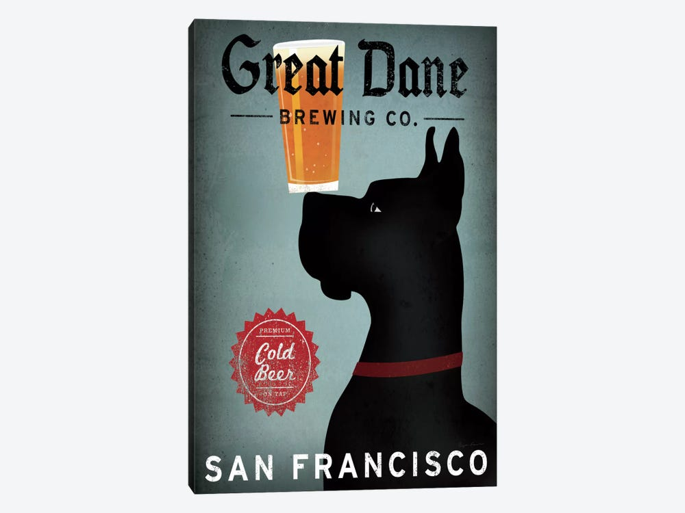 Great Dane Brewing Co. by Ryan Fowler 1-piece Art Print