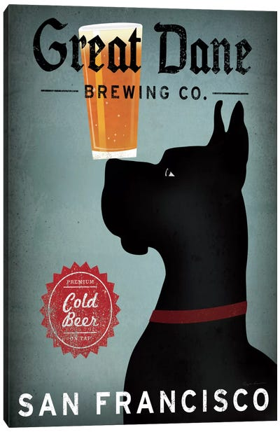 Great Dane Brewing Co. Canvas Art Print