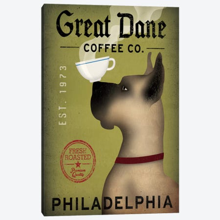 Great Dane Coffee Co. Canvas Print #WAC2243} by Ryan Fowler Canvas Art Print