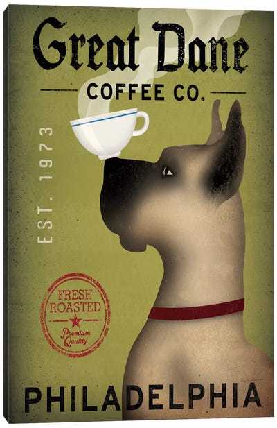 Great Dane Coffee Co. Canvas Print #WAC2243