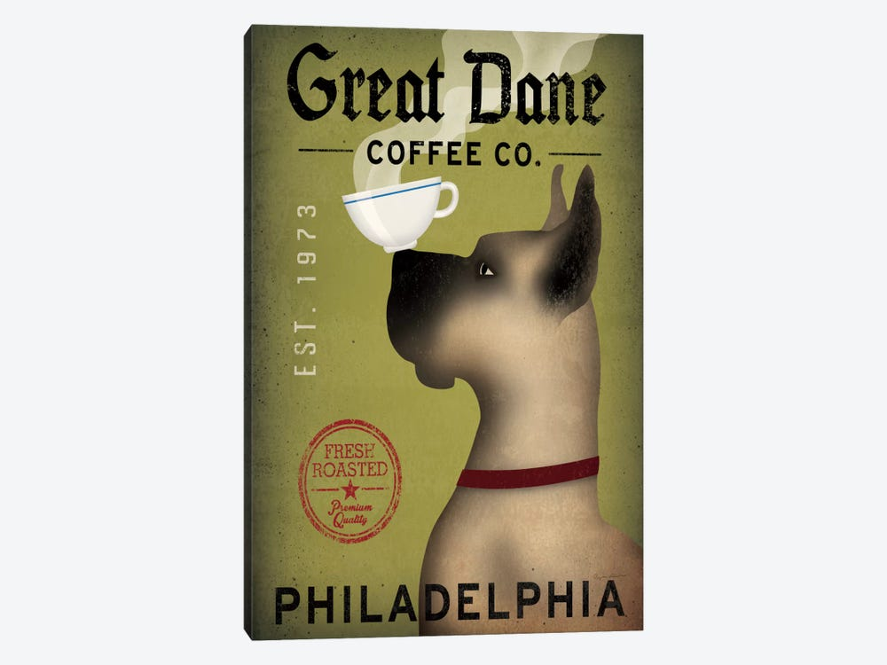Great Dane Coffee Co. by Ryan Fowler 1-piece Canvas Art