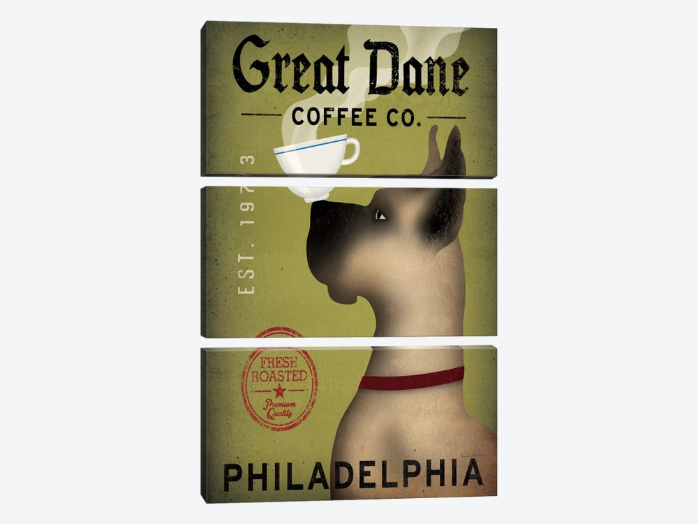 Great Dane Coffee Co. by Ryan Fowler 3-piece Canvas Artwork