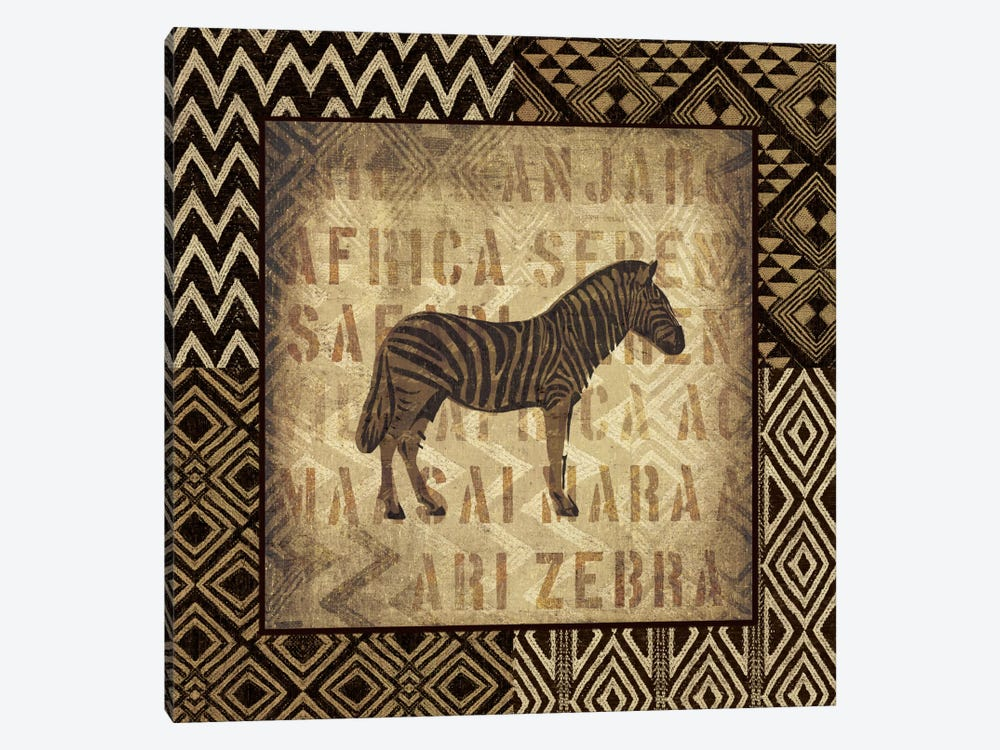 African Wild Zebra by Wild Apple Portfolio 1-piece Canvas Wall Art