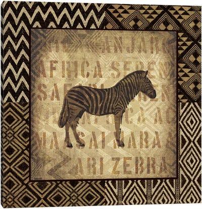 African Wild Zebra Canvas Art Print