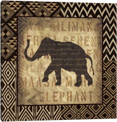 African Wild Elephant Canvas Art Print