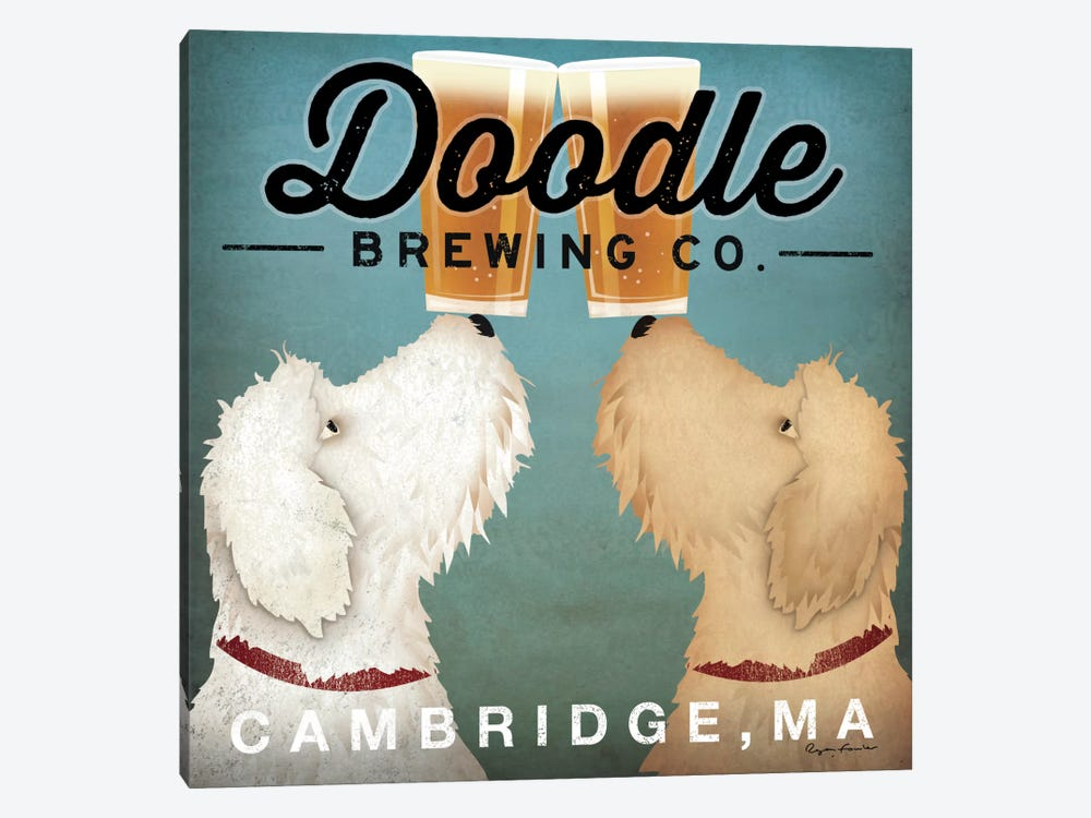Doodle Brewing Co. by Ryan Fowler 1-piece Art Print