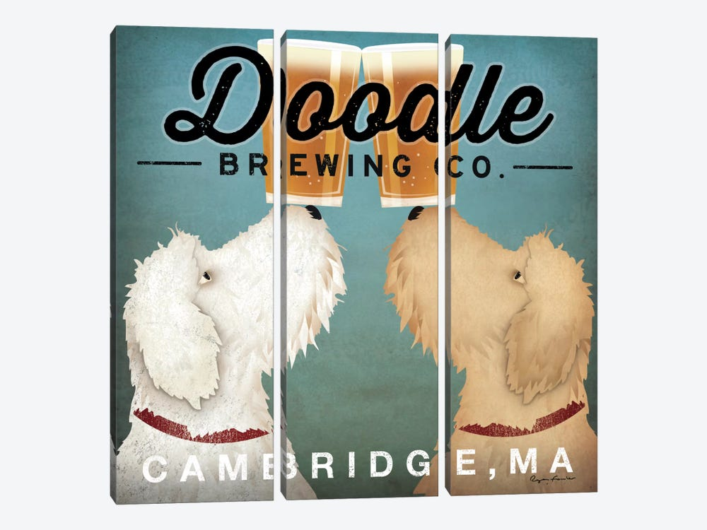 Doodle Brewing Co. by Ryan Fowler 3-piece Canvas Art Print