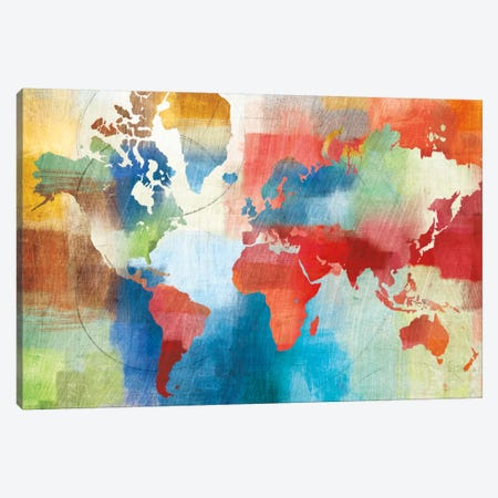 Seasons Change Abstract Canvas Print #WAC2250} by Michael Mullan Canvas Wall Art