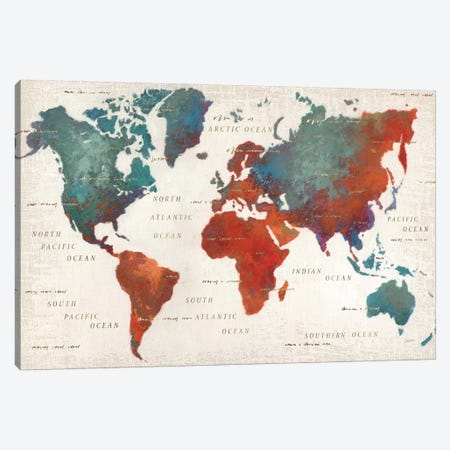 Colorful World I Canvas Print #WAC2254} by James Wiens Canvas Print