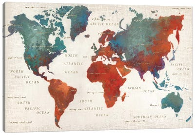 Colorful World I Canvas Art Print
