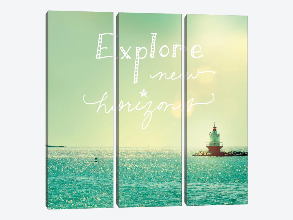 Explore Lighthouse by Sue Schlabach 3-piece Canvas Artwork