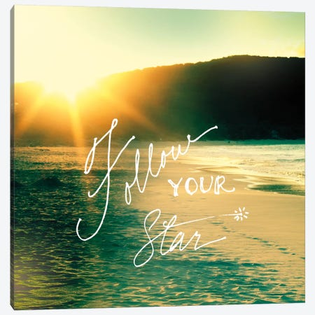 Follow Your Star Beach Canvas Print #WAC2259} by Sue Schlabach Canvas Artwork