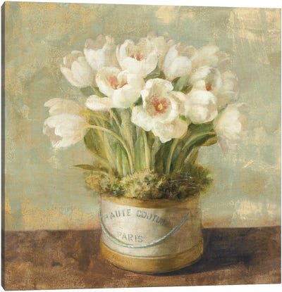Hatbox Tulips Canvas Art Print