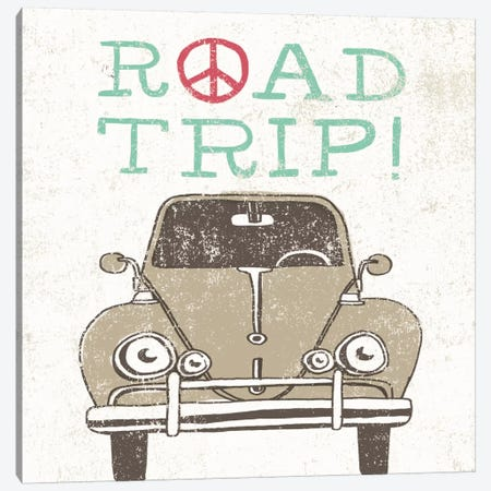 Road Trip Beetle Canvas Print #WAC2262} by Oliver Towne Canvas Print
