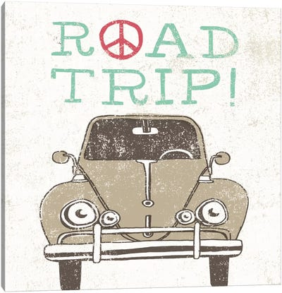 Road Trip Beetle Canvas Art Print
