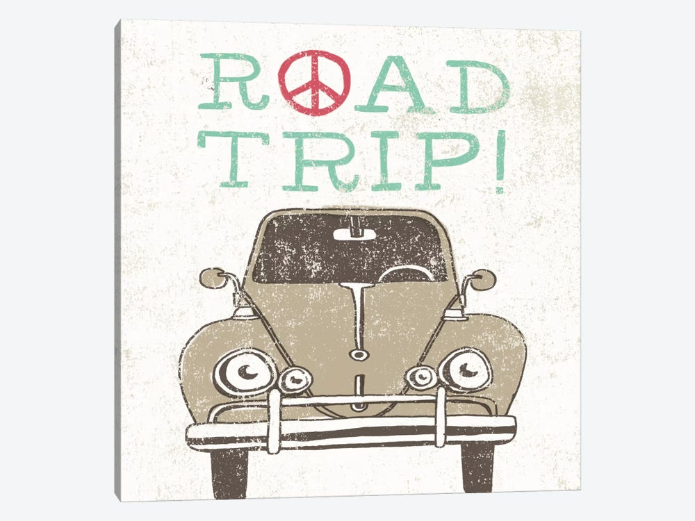 Road Trip Beetle by Oliver Towne 1-piece Canvas Art Print