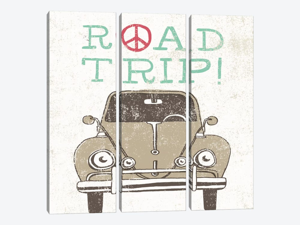 Road Trip Beetle by Oliver Towne 3-piece Art Print