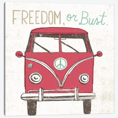 Road Trip Bus Canvas Print #WAC2264} by Oliver Towne Canvas Wall Art