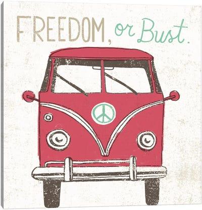 Road Trip Bus Canvas Print #WAC2264
