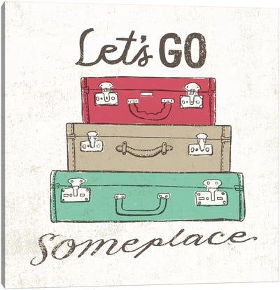 Road Trip Luggage Canvas Print #WAC2265