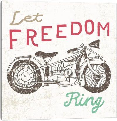Road Trip Motorcycle Canvas Print #WAC2266