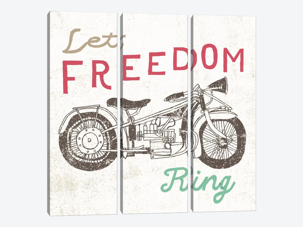 Road Trip Motorcycle by Oliver Towne 3-piece Art Print